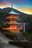 Pagoda of Seiganto-ji Temple at Nachi Katsuura Stock Photo