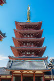 The pagoda at Senso-Ji temple in Tokyo, Japan Stock Photo
