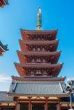 The pagoda at Senso-Ji temple in Tokyo, Japan Stock Photo