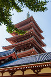 The pagoda at Senso-Ji temple in Tokyo, Japan Stock Image