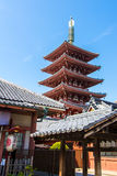 The pagoda at Senso-Ji temple in Tokyo, Japan Royalty Free Stock Photos