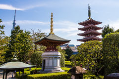 The pagoda at Senso-Ji temple in Tokyo, Japan Royalty Free Stock Images