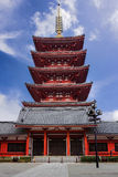 Pagoda at Sensoji Asakusa Temple Royalty Free Stock Photos