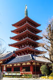 Pagoda at Sensoji Asakusa Temple, Japan Royalty Free Stock Photos