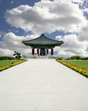 Pagoda Set In Beautiful Nature Background Royalty Free Stock Images