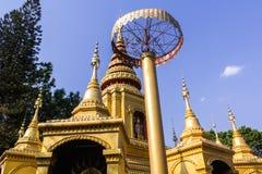 Pagoda Shan Style In Pai, Maehongson Thailand stock photo