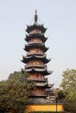 Pagoda in Shanghai, China Royalty Free Stock Photo