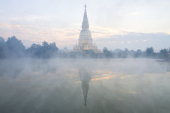 Pagoda sharp gold with steam Royalty Free Stock Images