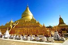 Pagoda Shwezigon Paya, Bagan, Myanmar (Burma). Stock Photography