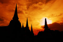 Pagoda silhouette Royalty Free Stock Images