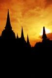 Pagoda silhouette Royalty Free Stock Photos
