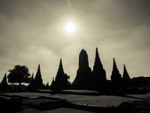 Pagoda Silhouette Royalty Free Stock Photo