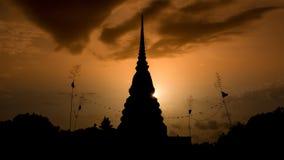 Pagoda silhouette Stock Photo
