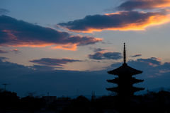 Pagoda Silhouette Stock Photography
