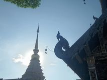 Pagoda and small bell on temple roof Stock Photography