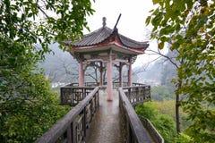 Pagoda in the small Small city Yangshuo, China Stock Photo
