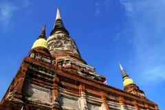 Pagoda statue at Wat Yai Chaimongkol, Thailand Stock Photo