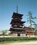 Pagoda and Structure Royalty Free Stock Photography