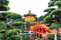 Pagoda style Chinese architecture Stock Photography