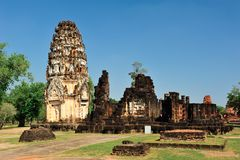 Pagoda in Sukhothai Royalty Free Stock Photography