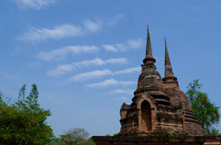 Pagoda in Sukhothai Historical  National Park, Tha Royalty Free Stock Images