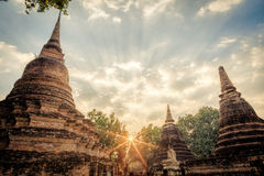 Pagoda at Sukhothai historical park Royalty Free Stock Photography
