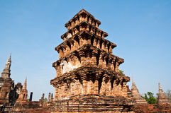 Pagoda of Sukhothai historical park,Thailand Royalty Free Stock Photo