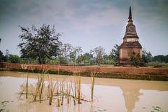Pagoda at Sukhothai Historical Park, UNESCO World Heritage Site Royalty Free Stock Photo