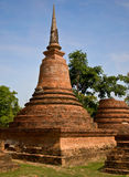 The Pagoda of sukothai historical park Royalty Free Stock Images