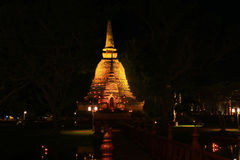 Pagoda Sukothai pattern Royalty Free Stock Images