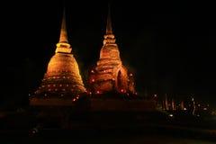 Pagoda Sukothai pattern stock image