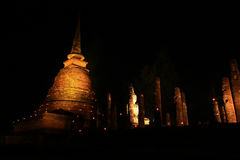 Pagoda Sukothai pattern Stock Images