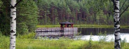 Pagoda sul lago Fotografia Stock Libera da Diritti