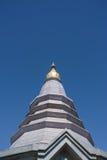Pagoda sul moutain, parco nazionale di Doi Inthanon, Tailandia Fotografie Stock Libere da Diritti