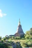 Pagoda sul moutain, parco nazionale di Doi Inthanon, Tailandia Fotografia Stock Libera da Diritti