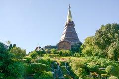 Pagoda sul moutain, parco nazionale di Doi Inthanon, Tailandia Immagini Stock Libere da Diritti