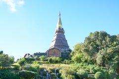 Pagoda sul moutain, parco nazionale di Doi Inthanon, Tailandia Fotografia Stock