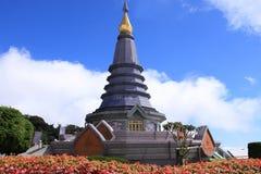 Pagoda sulla montagna Immagine Stock Libera da Diritti