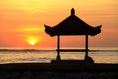 Pagoda at Sunrise, Sanur. Stock Images