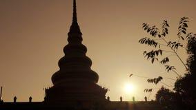 Pagoda sunrise Thailand stock video footage