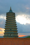 Pagoda in the sunset Royalty Free Stock Images