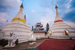 Pagoda in sunset at Wat Phra That Doi Kong Mu, Mae Hong Son Royalty Free Stock Photography