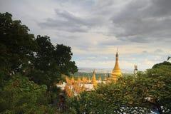 Pagoda sur la colline Image libre de droits