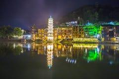 Pagoda sur la rivière Photos libres de droits