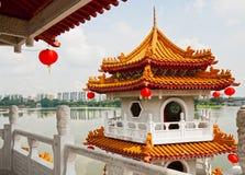 Pagoda sur le lac Image libre de droits