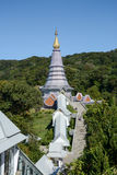 Pagoda sur le moutain, parc national de Doi Inthanon, Thaïlande Images stock