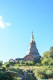 Pagoda sur le moutain, parc national de Doi Inthanon, Thaïlande Photo libre de droits