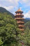 Pagoda in the in the Taroko Gorge, Taiwan stock image