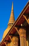 Pagoda in tempiale, Bangkok Tailandia immagine stock libera da diritti
