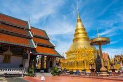 Pagoda in tempiale tailandese Immagine Stock Libera da Diritti